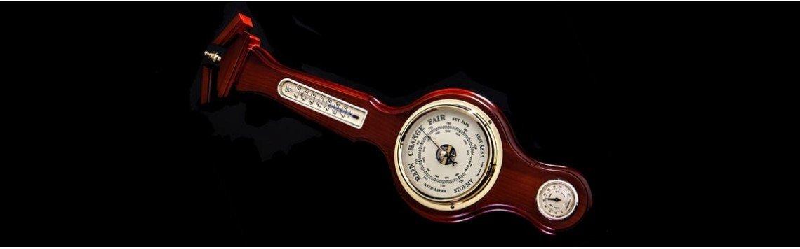 Reloj barómetro de pared con higrómetro y termómetro y estilo náutico