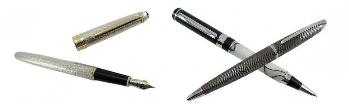 Stylos à bille et stylos à plume personnalisés pour hommes ou femmes.