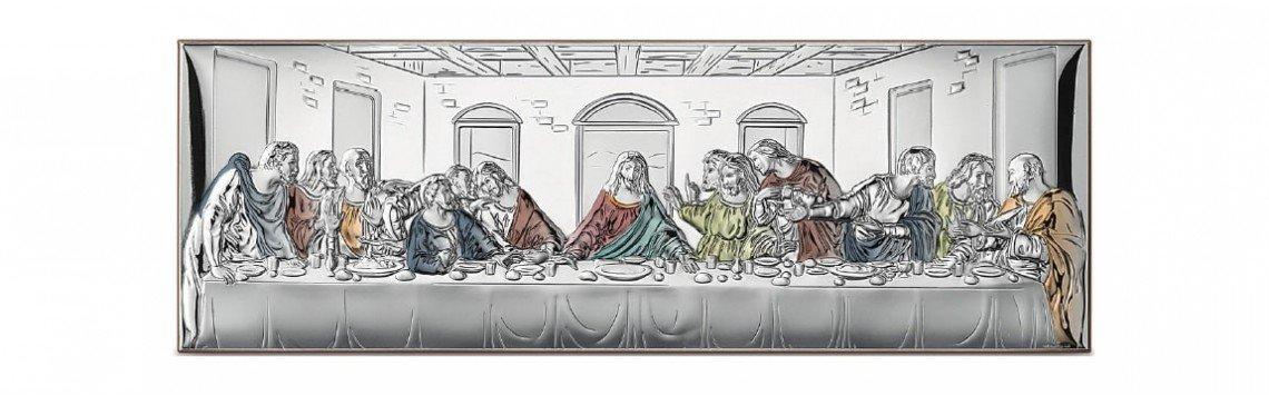 Religiöse oder landschaftliche Silbermalereien. Für Schlafzimmer...