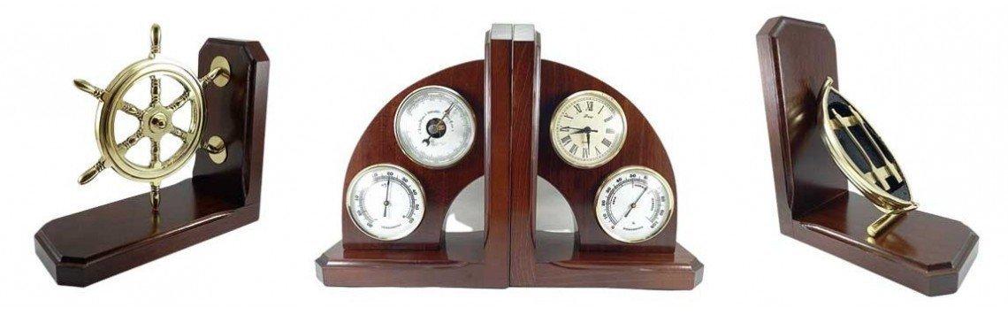 Serre-livres en métal et bois de style ancien. Douane.