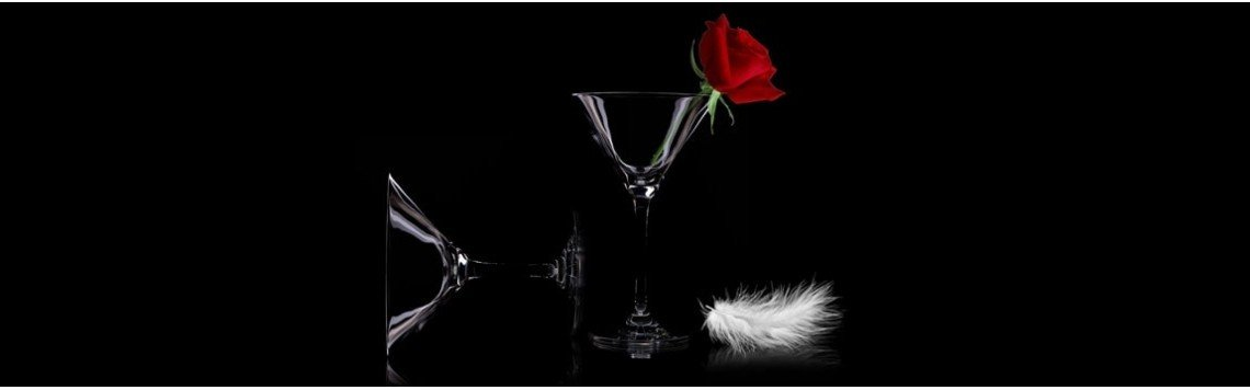 Copas cristal finas de champan, vino o whisky. Copas personalizadas.