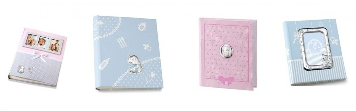 Traditional paper photo album for wedding, baptism or communion.