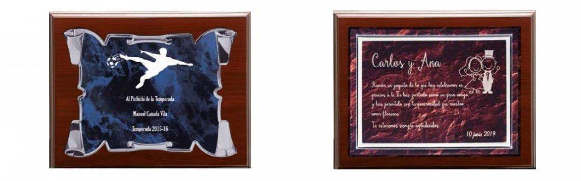 Placas homenaje conmemorativas personalizadas plata, alpaca, latón...